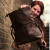 Flap Over in Distressed Brown Leather