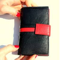 Fifi Black and Red Wallet