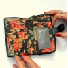 Navy crunch and Floral printed leather Wallet