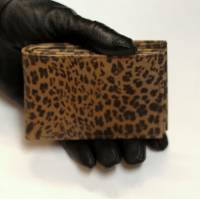 Tiny Wallet Leopard Print Leather
