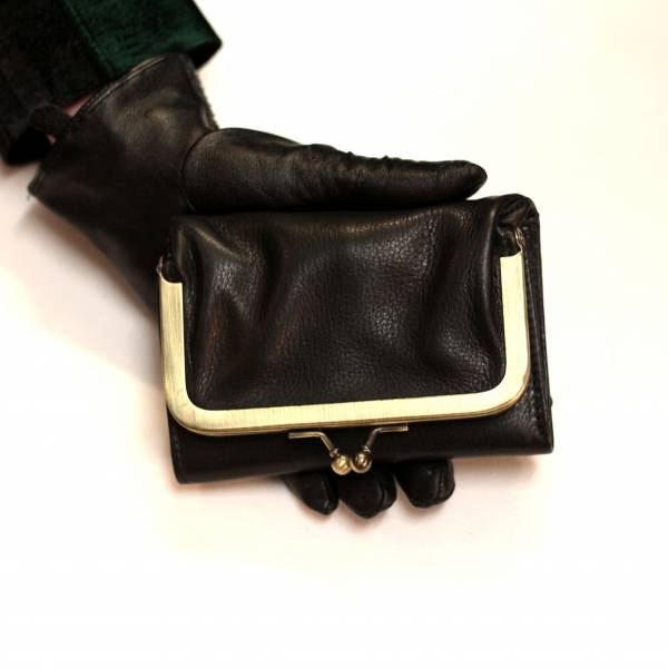 Clip Wallet Black Leather