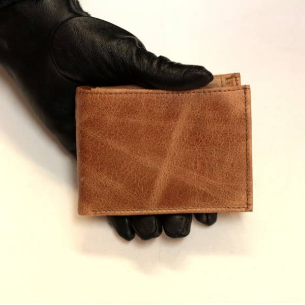Large Tiny Wallet Tan Leather