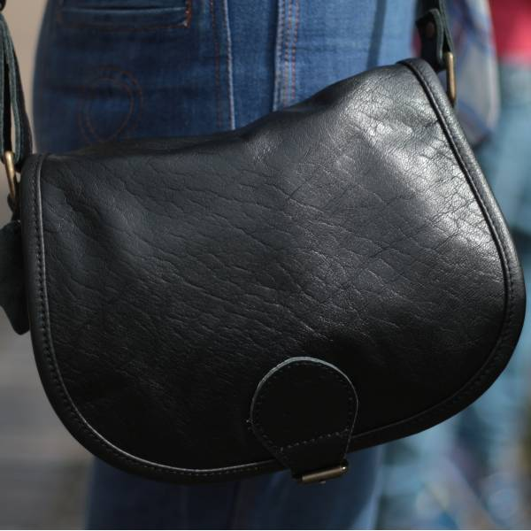 Isabelle Saddle Bag Black Small