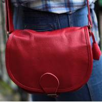 Isabelle Saddle Bag Red Small