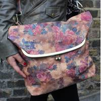 Dublin Large Clip Bag Floral Leather