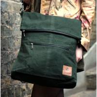 Belgian Convertible Backpack Dark Green Vegan