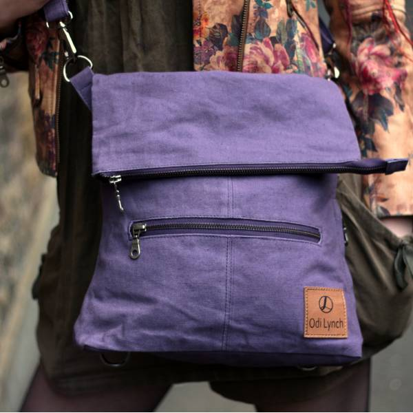 Amelie Convertible Backpack Purple Vegan