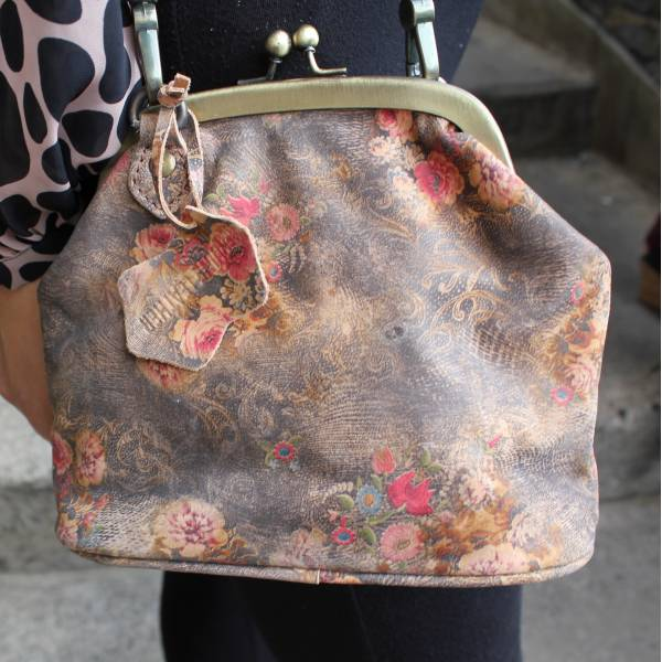 Clip Bag With Floor Floor Floral n21 Print