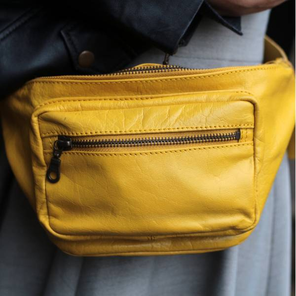 Double Yellow Leather Bumbag