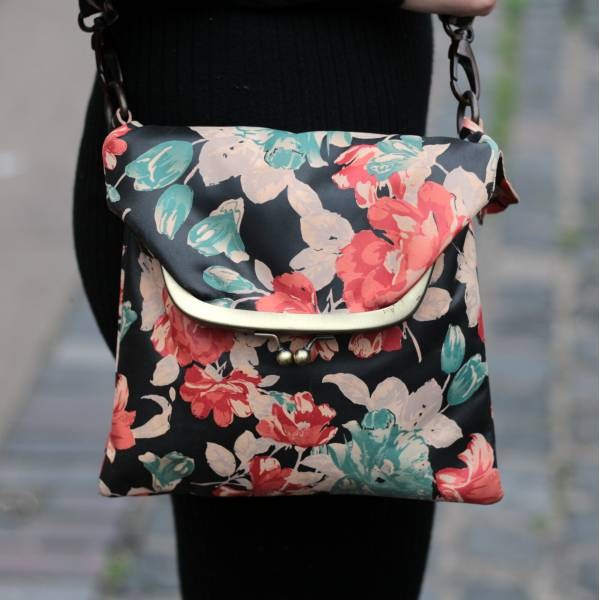 Dublin clip mini bag -  spanish floral print