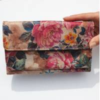 Travel Wallet Floral n14 Leather