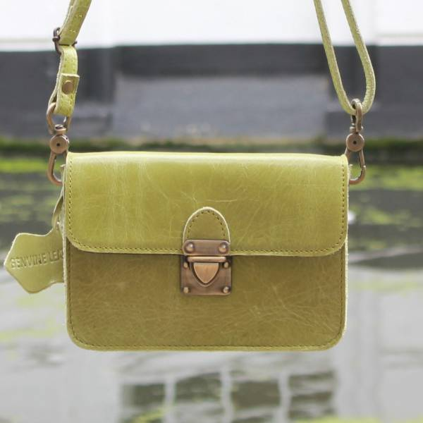 Scottish Bumbag Scottish Apple Green Leather