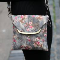 Mini Clip Bag Floral 21  Leather
