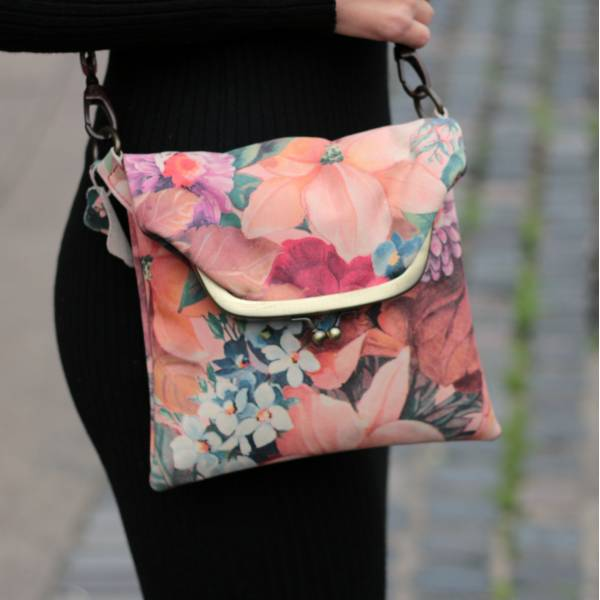 Mini Clip Bag French Floral Print