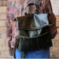 Amelie Convertible Ruckbag Olive Green
