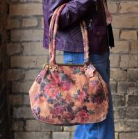 Perpetua Floral Printed Leather Clip Bag
