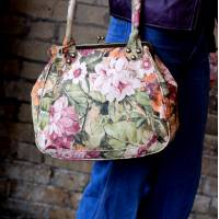 Perpetua Floral Printed Italian Art Leather Bag