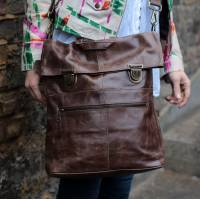 Belgian Convertible Clip Backpack Brown