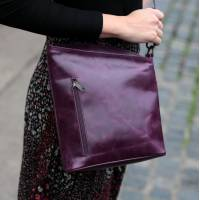 Marina Purple Leather Bag