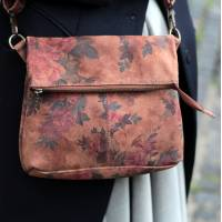 Mini Amelie Floral 14 darkest in Suede Leather