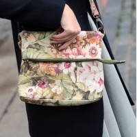 Mini Amelie Foldover Floral Italian Leather