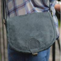 Isabelle Saddle Bag Navy Small