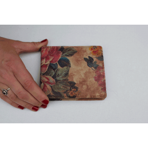 Floral Leather Wallet
