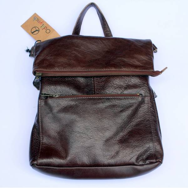 Amelie Backpack zip dark brown