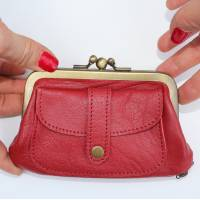 Amy Red Leather Purse