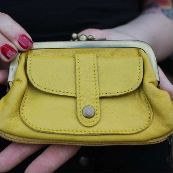 Amy Yellow Leather Wallet