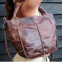Bach Tote Small Brown Scrunchy