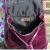 Barcelona Small Rucksack Purple Leather
