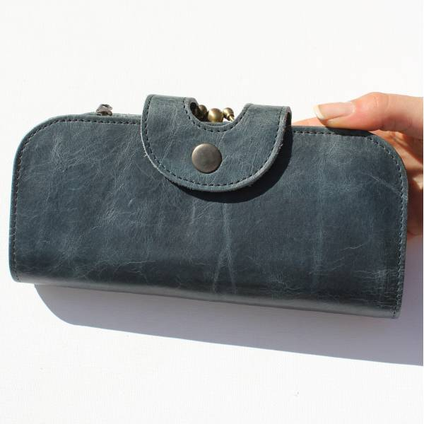 Big Fat Navy Leather Wallet