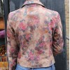 Biker  Tan Floral Leather