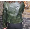 Biker Jacket Olive Green Leather