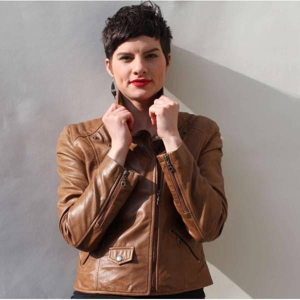Biker Jacket Tan Leather