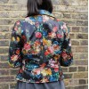 Biker Paradise Floral Leather Jacket