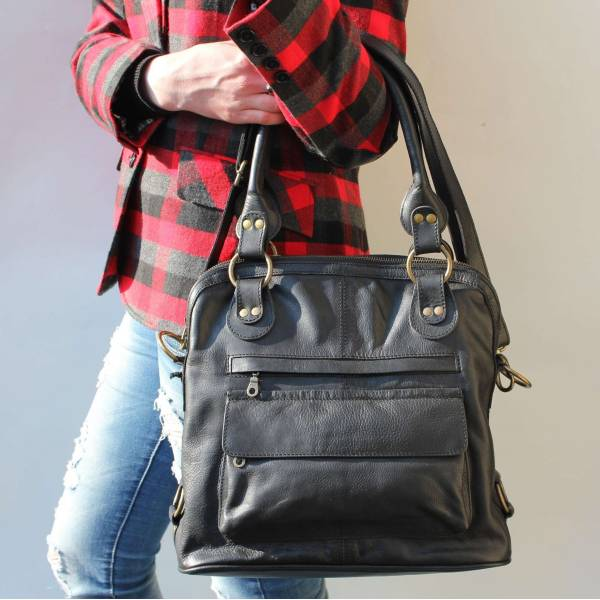 Pamela Tote Bag Black Leather Bag