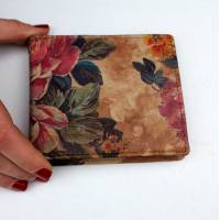 Alberta Floral Summer Garden Leather Wallet
