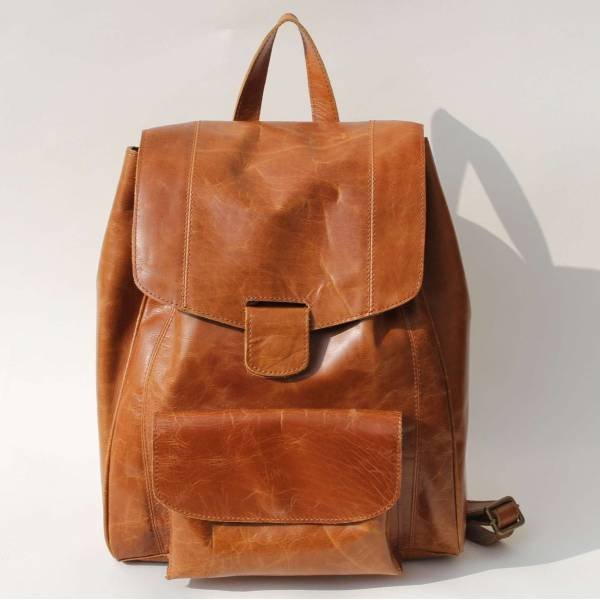 Coolruck Rucksack Tan Smooth Leather