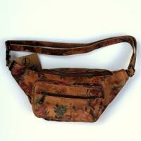 Double Bumbag N14 Darkish Floral Leather
