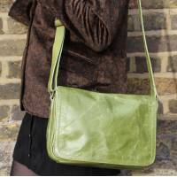 Apple Green Leather Bag