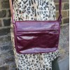 Denise Organiser Purple Leather Bag