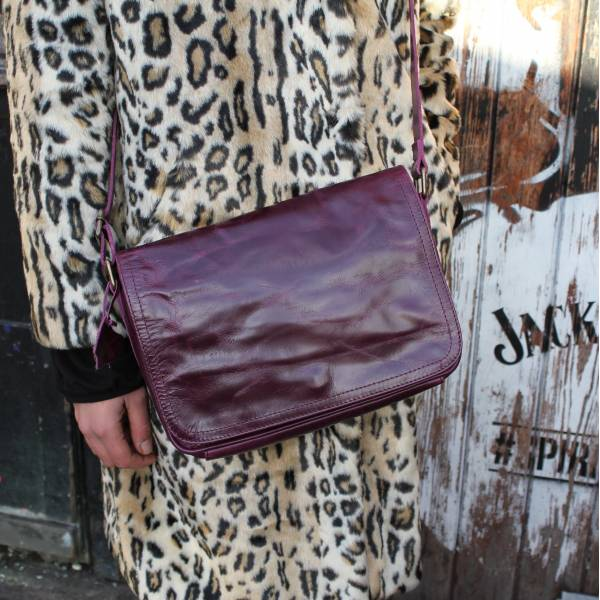 Purple Leather Bag