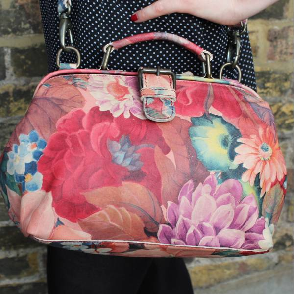 Doctor French Art Floral Leather Bag