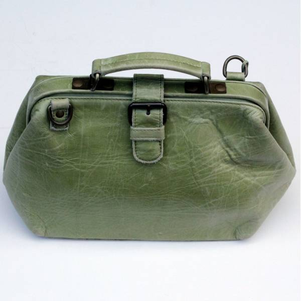 Doctor Bag Small Apple Green Leather