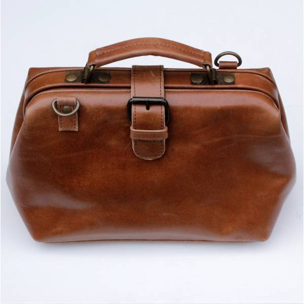 Doctor Bag Smooth Tan Leather Small