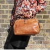 Doctor Small Distressed Tan Leather Bag