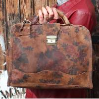 Doctor Bag Large Floral Suede