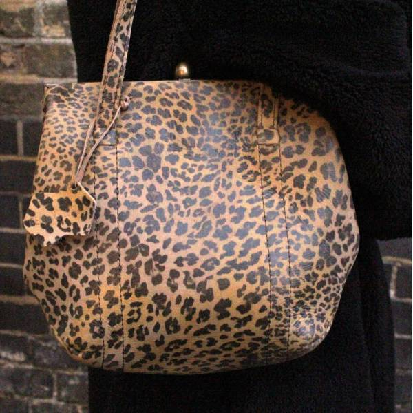 Dolly Leopardprint Shoulder Bag